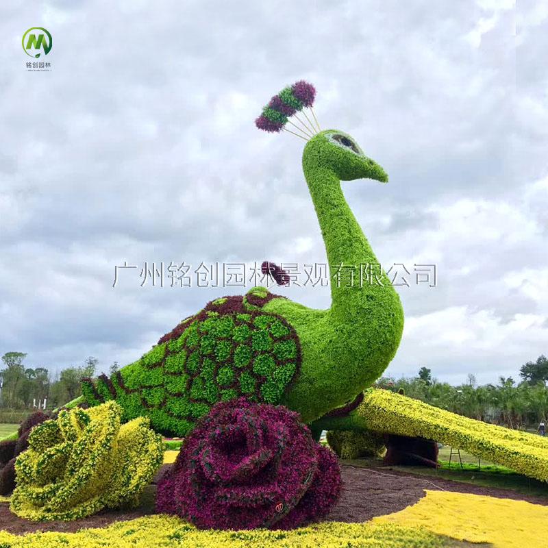 广西贺州大型孔雀绿雕